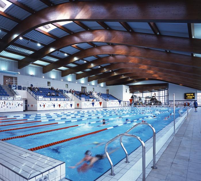 K2 leisure centre michael edwards consultants for 50m pool design
